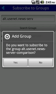 Subscribe to Groups: Search