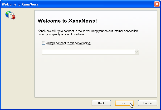 Welcome to XanaNews - Internet connection